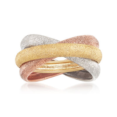 Italian 14kt Multitone Gold Rolling Ring, , default