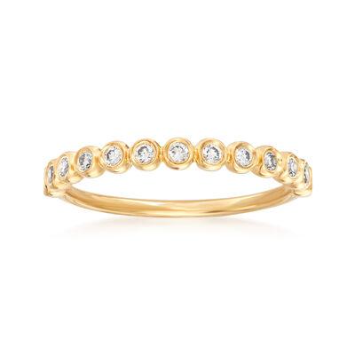 Henri Daussi .21 ct. t.w. Diamond Wedding Ring in 18kt Yellow Gold, , default