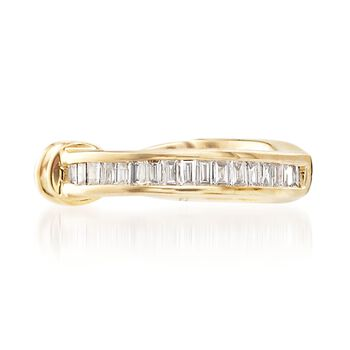 Baguette Diamond-Accented Single Ear Cuff in 14kt Yellow Gold, , default