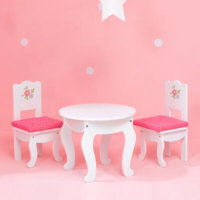 "Child's ""Little Princess"" Doll Table and 2 Chair Set"