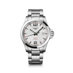 Longines Conquest V.H.P. Men's 43mm Stainless Steel Watch - White Dial, , default