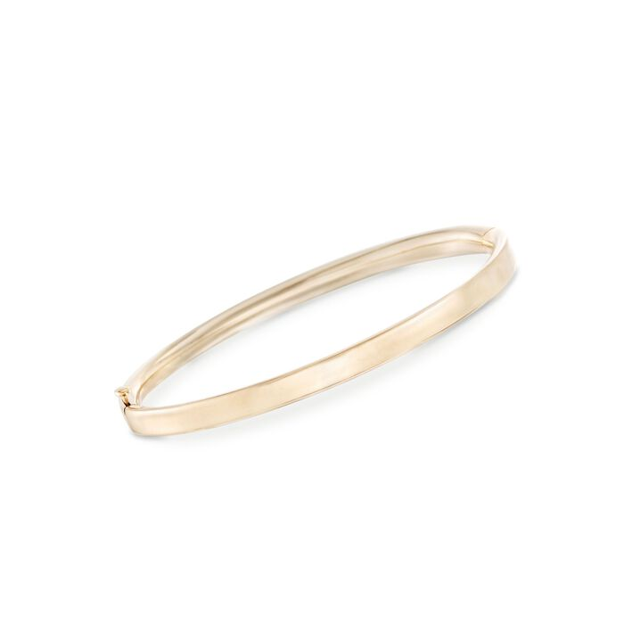 "Child's 14kt Yellow Gold Bangle Bracelet. 5.25"", , default"