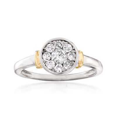 .50 ct. t.w. Diamond Circle Cluster Ring in 14kt Two-Tone Gold