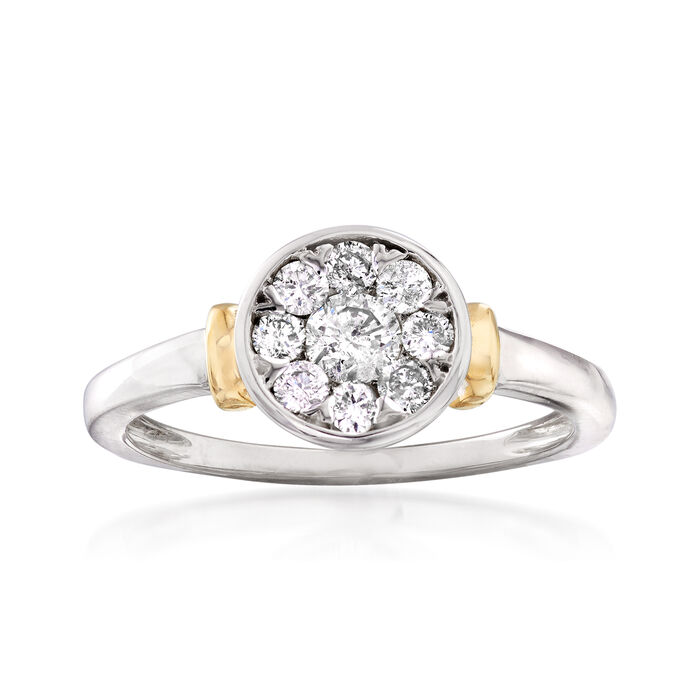 .50 ct. t.w. Diamond Circle Cluster Ring in 14kt Two-Tone Gold, , default
