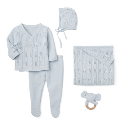 "Elegant Baby ""Coming Home"" 5-pc. Blue Newborn Set"