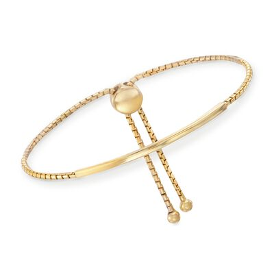 Italian 18kt Gold Over Sterling Silver Curved Bar Bracelet