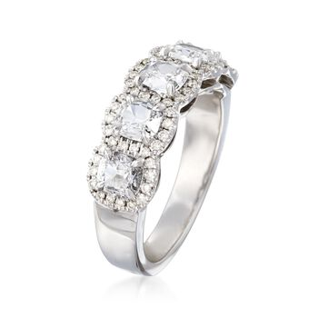 Henri Daussi 1.46 ct. t.w. Five-Stone Diamond Ring in 18kt White Gold, , default