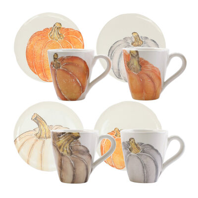 Vietri Assorted Pumpkin Dinnerware from Italy