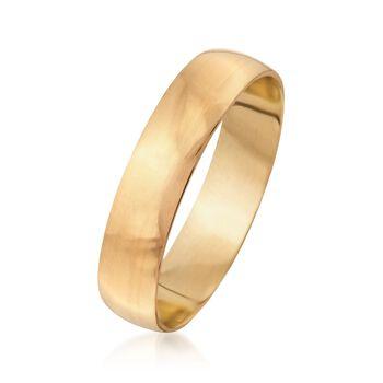 Men's 5mm 14kt Yellow Gold Wedding Ring, , default