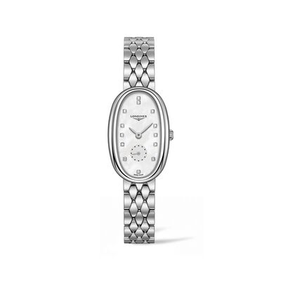 Longines Symphonette Women's 22x34mm Stainless Steel Watch with Diamond Accents, , default