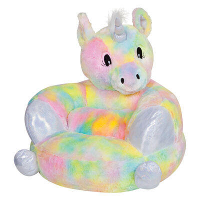 Children's Plush Rainbow Unicorn Chair, , default