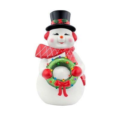 Mr. Christmas Oversized Snowman Ceramic Figurine