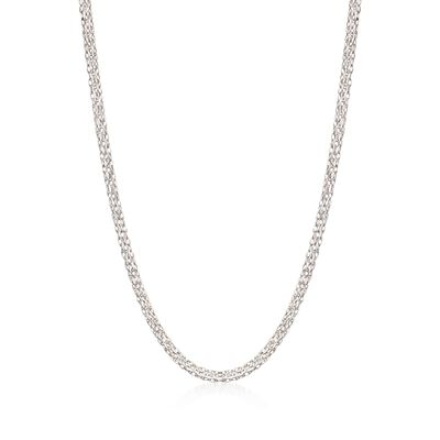 18kt White Gold Three-Strand Rope Chain Necklace