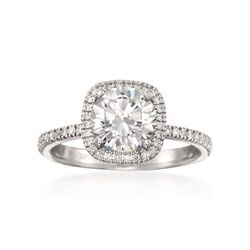 Simon G. .30 ct. t.w. Diamond Engagement Ring Setting in 18kt White Gold, , default