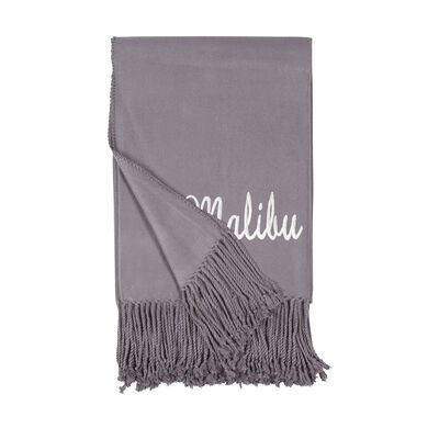 Steel Fringe Throw Blanket, , default
