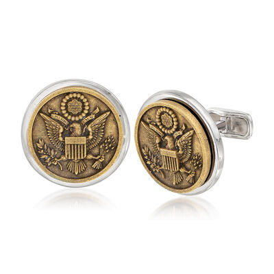 Men's Great Seal of the United States Coin Cuff Links, , default