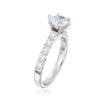 .65 ct. t.w. Diamond Engagement Ring Setting in 14kt White Gold, , default