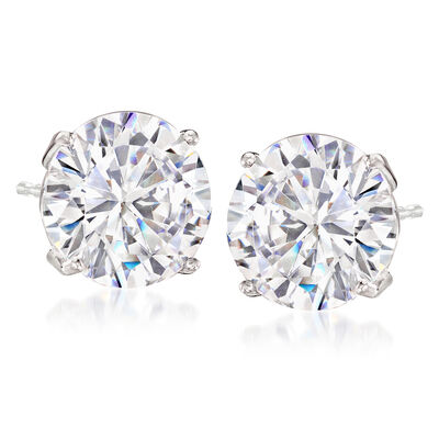 7.00 ct. t.w. CZ Stud Earrings in Sterling Silver, , default