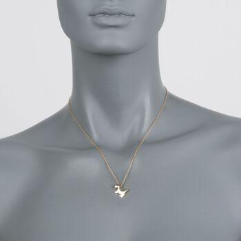 "Roberto Coin ""Tiny Treasures"" 18kt Yellow Gold Scottie Dog Pendant Necklace. 16"""