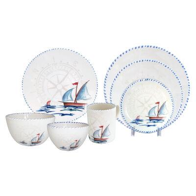 Abbiamo Tutto Italian Sailboat Ceramic Dinnerware