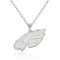 "Sterling Silver NFL Philadelphia Eagles Pendant Necklace. 18"", , default"