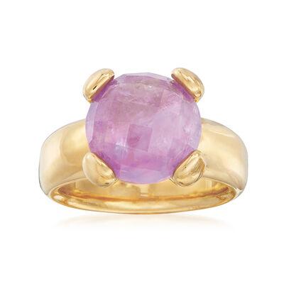 Italian Andiamo 1.00 Carat Amethyst Ring in 14kt Gold, , default