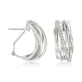 .42 ct. t.w. Diamond Crisscross Drop Earrings in 14kt White Gold, , default