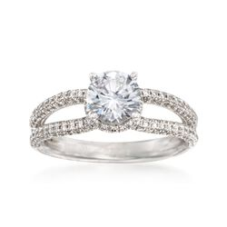 Simon G. .52 ct. t.w. Diamond Engagement Ring Setting in 18kt White Gold, , default