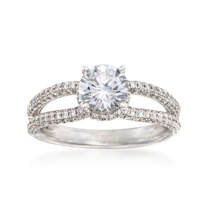 Simon G. .52 ct. t.w. Diamond Engagement Ring Setting in 18kt White Gold, , default