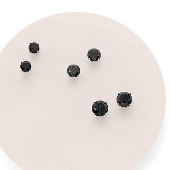 1.00 ct. t.w. Black Diamond Stud Earrings in 14kt White Gold