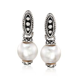 Andrea Candela 7.5-8mm Pearl Drop Earrings in Sterling Silver, , default