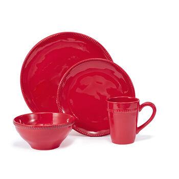 "Euro Ceramica ""Algarve"" Red 16-pc. Service for 4 Dinnerware Set, , default"
