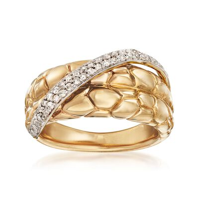 .27 ct. t.w. Diamond Sash Ring in 14kt Yellow Gold, , default