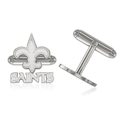 Sterling Silver NFL New Orleans Saints Cuff Links, , default