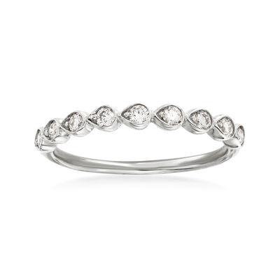 Henri Daussi .26 ct. t.w. Diamond Wedding Ring in 18kt White Gold, , default