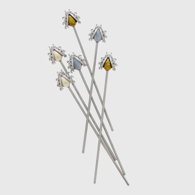 Joanna Buchanan Set of 6 Ladybug Swizzle Sticks, , default