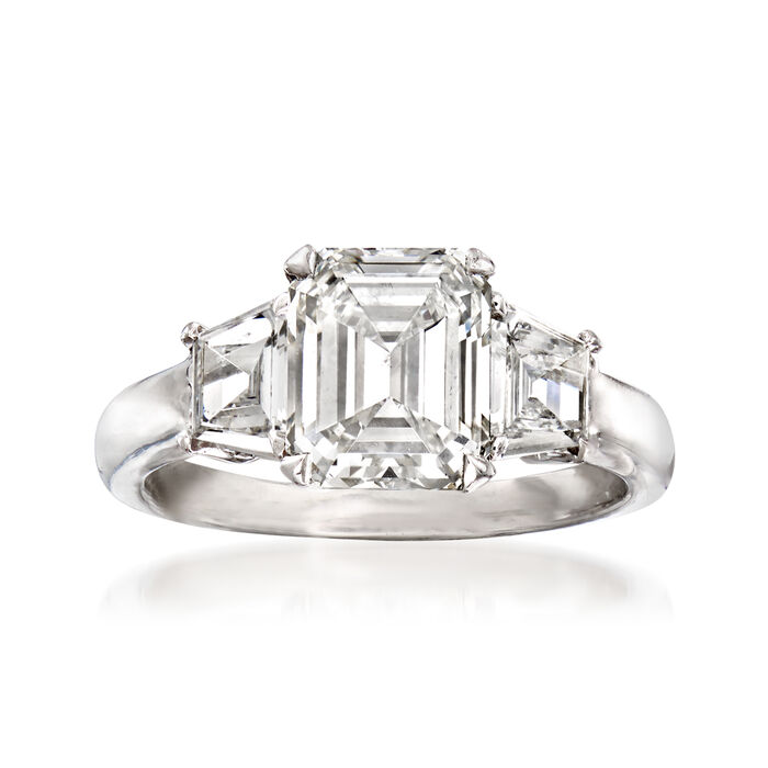Majestic Collection 2.91 ct. t.w. Diamond Ring in Platinum. Size 6, , default