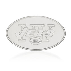 Sterling Silver NFL New York Jets Lapel Pin, , default