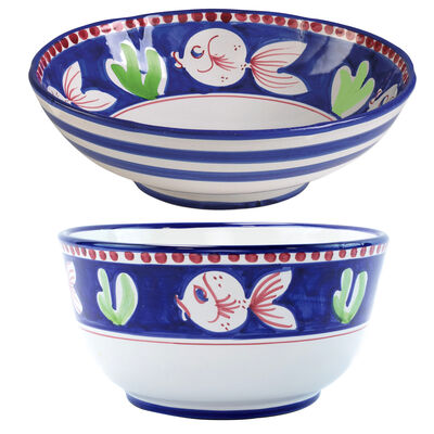 "Vietri ""Campagna Pesce"" Serving Bowl from Italy"