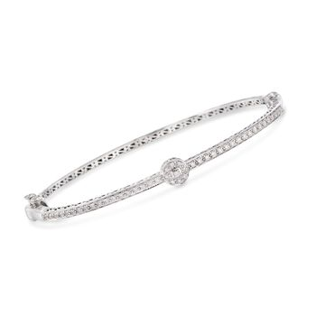 "ALOR .42 ct. t.w. Diamond Bangle Bracelet in 18kt White Gold. 7"", , default"