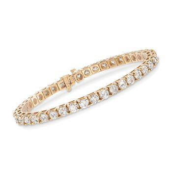 10.00 ct. t.w. Diamond Tennis Bracelet in 14kt Yellow Gold, , default