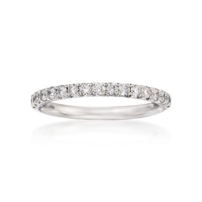Henri Daussi .45 ct. t.w. Diamond Wedding Ring in 18kt White Gold
