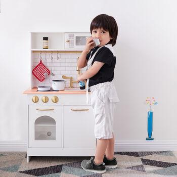 Child's Little Chef Boston Wood Modern Play Kitchen in White, , default