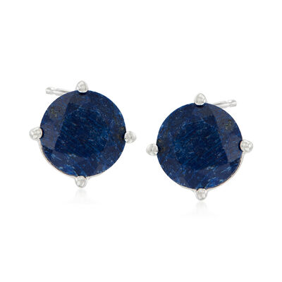 4.00 ct. t.w. Sapphire Stud Earrings in Sterling Silver, , default