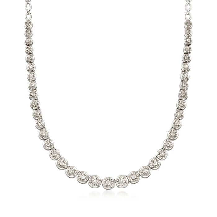 3.00 ct. t.w. Diamond Necklace in Sterling Silver, , default
