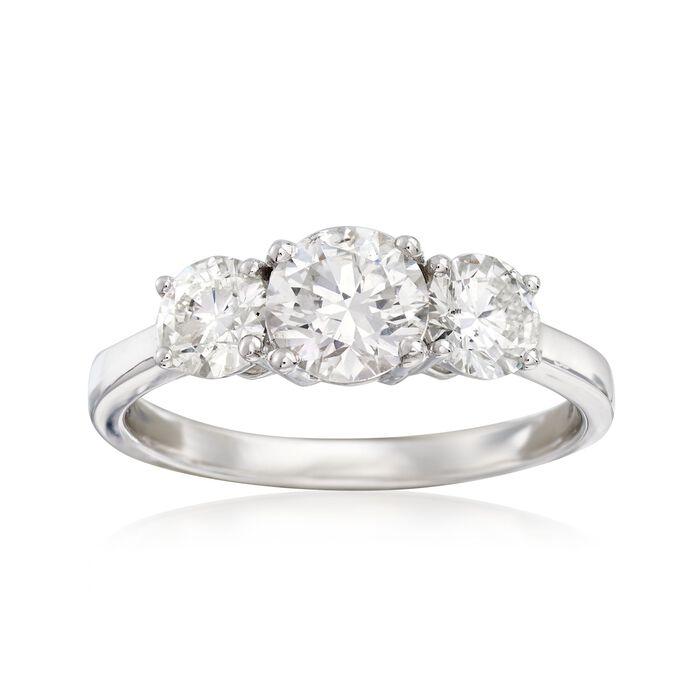 2.00 ct. t.w. Diamond Three-Stone Ring in 14kt White Gold