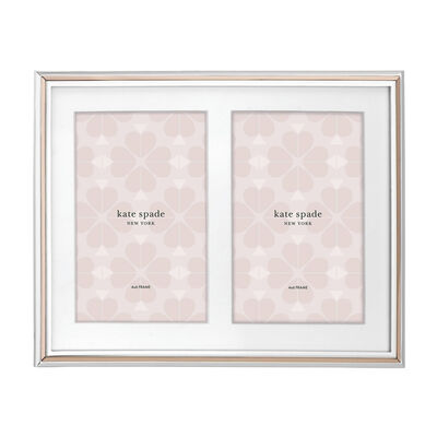 "Kate Spade New York ""Rosy Glow"" 5x7 Double Invitation Frame, , default"