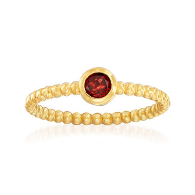 "Phillip Gavriel ""Popcorn"" .30 Carat Garnet Beaded Ring in 14kt Yellow Gold"