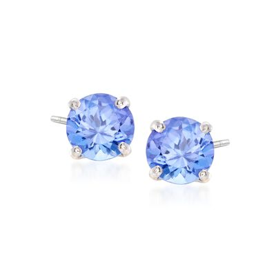 .95 ct. t.w. Tanzanite Stud Earrings in 14kt White Gold, , default