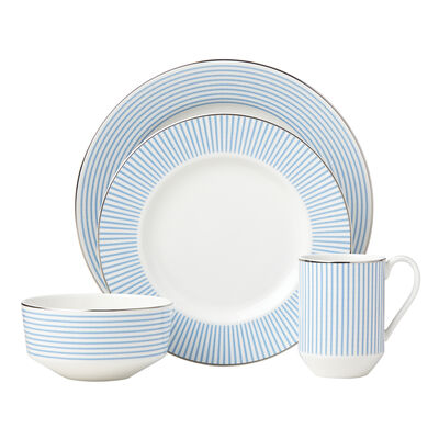 "Kate Spade New York ""Laurel Street"" 4-pc. Blue and White Ceramic Place Setting, , default"